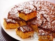 Маслен сладкиш с шоколадова глазура